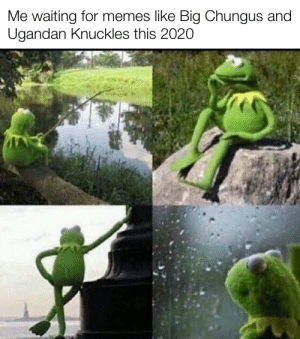 My class is literally thinking of movies while I'm making memes: Me waiting for memes like Big Chungus and  Ugandan Knuckles this 2020 My class is literally thinking of movies while I'm making memes