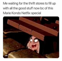 *rubs hands together*   (credit unknown): Me waiting for the thrift stores to fill up  with all the good stuff now bc of this  Marie Kondo Netflix special  GIF *rubs hands together*   (credit unknown)