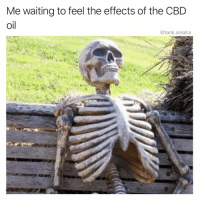 Funny, Arthritis, and Waiting...: Me waiting to feel the effects of the CBD  oil  @tank.sinatra My arthritis stopped hurting, because I died