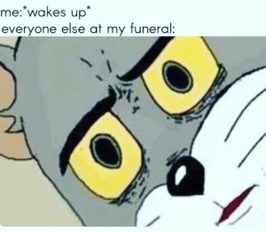 Confused Tom meme spam 😹👊 ⬇️❌ignore❌⬇️ . . . . #funny #funnymemes #funnyvideos #funny #hilarious #funnymeme #Lol #funnyvideo #funnypics…: me: wakes up  everyone else at my funeral Confused Tom meme spam 😹👊 ⬇️❌ignore❌⬇️ . . . . #funny #funnymemes #funnyvideos #funny #hilarious #funnymeme #Lol #funnyvideo #funnypics…