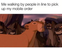 "Bitch, Funny, and Ludacris: Me walking by people in line to pick  up my mobile order ""MOVE BITCH"" - Ludacris"
