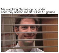 """Gamestop, Memes, and Petty: Me watching GameStop go under  after they offered me $1.13 for 15 games <p>Extra petty via /r/memes <a href=""""https://ift.tt/2KnTCyq"""">https://ift.tt/2KnTCyq</a></p>"""