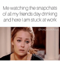 Af, Drinking, and Friends: Me watching the snapchats  of all my friends day drinking  and here l am stuck at work  @hoegivesnofucks Just kidding! This isn't coffee in my mug 🤗 festive af 🍀