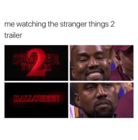 Memes, 🤖, and The Strangers: me watching the stranger things 2  trailer CANT WAIT OMG! Who else is excited?