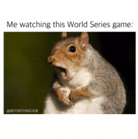 This game is just nutty (get it bc it's a squirrel? Im hilarious) worldseries: Me watching this World Series game:  @BOY WITH NOJOB This game is just nutty (get it bc it's a squirrel? Im hilarious) worldseries