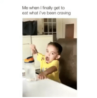 Click, Memes, and Music: Me when I finally get to  eat what i've been craving Second slide 👉 Click the link in bio! This app pays you just for listening to music