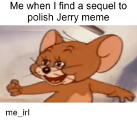 jerry: Me when I find a sequel to  polish Jerry meme  me irl