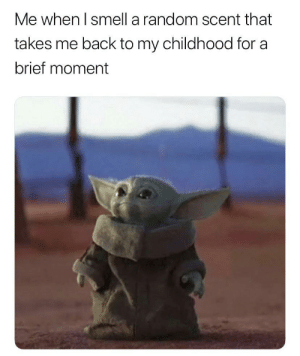 memehumor:  Anyone else also experience this?: Me when I smell a random scent that  takes me back to my childhood for a  brief moment memehumor:  Anyone else also experience this?