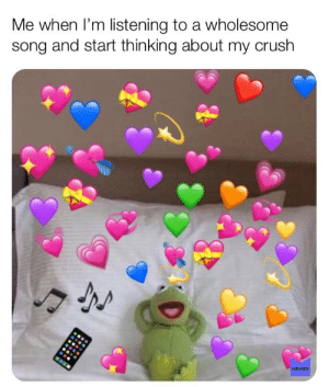 I haven't posted in a while: Me when I'm listening to a wholesome  song and start thinking about my crush  MEMES I haven't posted in a while