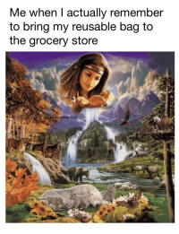 Saving the planet one step at a time.: Me when l actually remember  to bring my reusable bag to  the grocery store  e to enter text Saving the planet one step at a time.