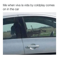 Coldplay, Memes, and 🤖: Me when viva la vida by coldplay comes  on in the car 😂💀 That's My Shit