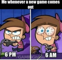 This is me with elder scrolls online. Except it's not new. (@thegamingbible): Me whenever a new game comes  out  6 PM  6 AM  GAMI Gb le This is me with elder scrolls online. Except it's not new. (@thegamingbible)