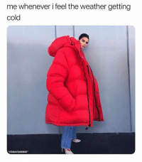"""Memes, The Weather, and Weather: me whenever i feel the weather getting  cold  ITSMAYSMEMES"""" Accurate 😂"""