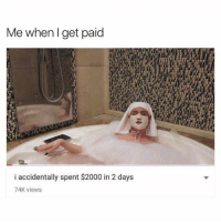Funny, Memes, and Relatable: Me whenl get paid  i accidentally spent $2000 in 2 days  74K views 58 Relatable Memes That Are Just Too Damn Funny