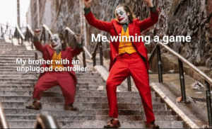 Damn wholesome and nothing less via /r/wholesomememes https://ift.tt/2oCoC8p: Me winning a game  My brother with an  unplugged controller Damn wholesome and nothing less via /r/wholesomememes https://ift.tt/2oCoC8p