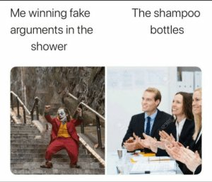 Sham poo: Me winning fake  arguments in the  The shampoo  shower  bottles  123RF  123RF Sham poo