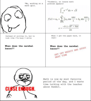Suddenly an Insane Math Problem Appears! *Me Working on a Math Quiz