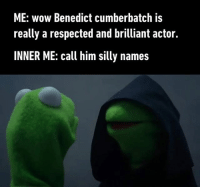 I'm so sorry Wimbledon Tennismatch. Follow @9gag @9gagmobile 9gag benedictcumberbatch: ME: wow Benedict cumberbatch is  really a respected and brilliant actor.  INNER ME: call him silly names I'm so sorry Wimbledon Tennismatch. Follow @9gag @9gagmobile 9gag benedictcumberbatch