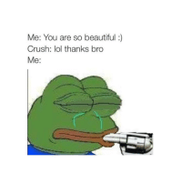 The friend zone hurts: Me: You are so beautiful  Crush: lol thanks bro  Me The friend zone hurts