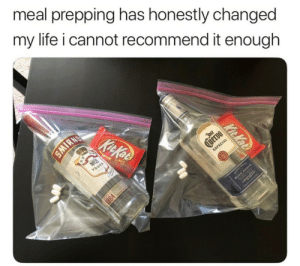 Life, Vodka, and MeIRL: meal prepping has honestly changed  my life i cannot recommend it enough  KitKoB  NO21  VODKA  Jast  tvervo  ESPECIAL  IRN  Kit Kat  1864 meirl