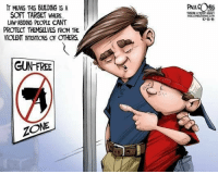Gun Free Zone: MEANS THIS BULDNG ISA  SOFT TARGET WERE,  LAW ABIDING PEOPLE CANT  PROTECT THEMSELVES FROM THE  VIOLENT NTENTIONS OF CTHERS.  GUN FREE  ZONE  10-13 15