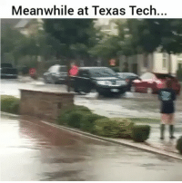Af, Funny, and Lmao: Meanwhile at Texas Tech... Lmao clever af
