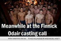 """Love, Hitler, and Http: Meanwhile at the Finnick  Odair casting call  Hitler hated this site too  TH E H U  G E R M E M E S·N ET <p>I would love to be the casting director <a href=""""http://ift.tt/1zERh8x"""">http://ift.tt/1zERh8x</a></p>"""