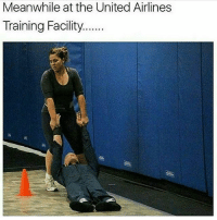 united airlines: Meanwhile at the United Airlines  Training Facility......