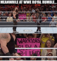 There's nowhere that's safe. ... wwe wrestling royalrumble royal rumble nba meme memes funny basketball warriors cavs 3 1 nbamemes: MEANWHILE ATWWE ROYAL RUMBLE...  LIVE  H RoyalRumble  WARRIORS  NBAMEMES  WARRIORS There's nowhere that's safe. ... wwe wrestling royalrumble royal rumble nba meme memes funny basketball warriors cavs 3 1 nbamemes