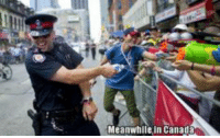 Canadian police brutality...........: Meanwhile in Canada Canadian police brutality...........