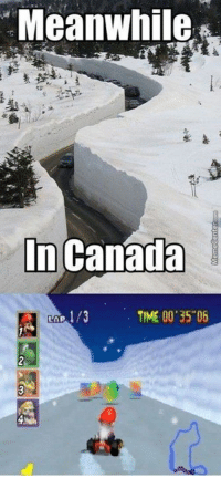 """When gaming meets reality!: Meanwhile,  In Canada  TIME 00 35""""06 When gaming meets reality!"""
