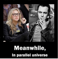 Memes, Cbs, and 🤖: Meanwhile,  In parallel universe This would make a great episode! 😮 . 🎥 Do you agree? 🎥 . tbbt thebigbangtheorycast @therealjimparsons kaleycuoco @normancook sheldoncooper johnnygalecki @sanctionedjohnnygalecki bigbangtheorytime bigbangtheory trio cbs bigbang shamy penny sheldon raj thebigbangtheory