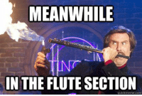 25 Hilarious Marching Band Memes | SMOSH: MEANWHILE  IN THE FLUTE SECTION  quickmeme.com 25 Hilarious Marching Band Memes | SMOSH