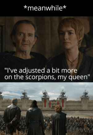 """D&D used 'subversion'... It was super effective!: *meanwhile*  """"l've adiusted a bit more  on the scorpions, my queen"""" D&D used 'subversion'... It was super effective!"""