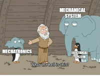 Engineering, System, and What: MECHANICAL  SYSTEM  MECHATRONICS  FECTRICAL  What the hells this?