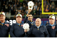 Medal of Honor recipients were honored before the SuperBowl.: Medal of Honor recipients were honored before the SuperBowl.