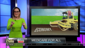 """ICYMI: """"Bernie is at it again with Medicare-For-All, the ridiculously expensive socialistic health care system that is guaranteed to ruin our economy. But who cares about economic flourishing, health care is a right!"""": MEDICARE FOR ALL  MEDICARE FOR ALL  Watch  NETWORK ICYMI: """"Bernie is at it again with Medicare-For-All, the ridiculously expensive socialistic health care system that is guaranteed to ruin our economy. But who cares about economic flourishing, health care is a right!"""""""