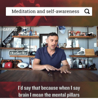 We still have much to learn about mental health and how are brains work ... by the way Have you used the search engine yet ask.garyvaynerchuk.com - Yes or No? 🤔🤔🤔: Meditation and self-awareness  a  GARY VEE  HAsK GARY WEE A  I'd say that because when l say  brain I mean the mental pillars We still have much to learn about mental health and how are brains work ... by the way Have you used the search engine yet ask.garyvaynerchuk.com - Yes or No? 🤔🤔🤔