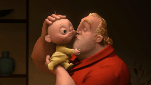 Bad, Dad, and Fire: medusabraids:  bestfunny:  The Incredibles 2 is coming soon, matter of fact June 15, 2018, is the official release date.  At Comic-Con some viewers were able to get a sneak peek preview of Bob a.k.a Mr. Incredible being a stay-at-home dad with Jack Jack, as Elastigirl went off to fight some bad guys. In this clip viewers were able to witness the immense superpowers Jack Jack acquires between laser vision, walking through walls, duplicating, fire, and the countless other powers that even the Incredibles seems to be scratching their heads about. The Incredibles 2 will be picking up exactly where The Incredibles (2004) left off.