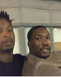 Meek Mill and 21 Savage riding around Atlanta: Meek Mill and 21 Savage riding around Atlanta