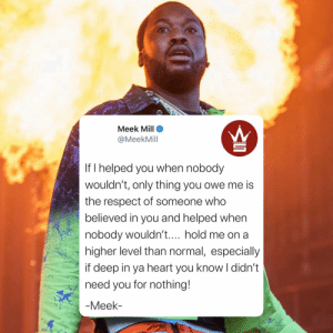 Meek Mill had this to say... 👀🤔 @MeekMill https://t.co/a3YGQs2e39: Meek Mill had this to say... 👀🤔 @MeekMill https://t.co/a3YGQs2e39