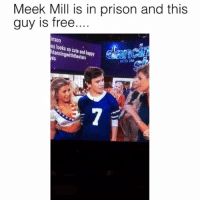 Cute, Friends, and Meek Mill: Meek Mill is in prison and this  guy is free  ..  Inson  es looks so cute and happy  dancingwiththestars  es  with the LOCK HIM UP 😂 @funnyblack.s ➡️ TAG 5 FRIENDS ➡️ TURN ON POST NOTIFICATIONS