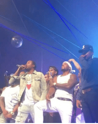 Complex, Young Jeezy, and Memes: MeekMill, 50Cent, ChanceTheRapper, AllenIverson, JamesHarden, TreySongz, and Jeezy on stage out in LasVegas! 🔥💯 Via: @Complex @MeekMill @50Cent @ChanceTheRapper @OfficialAI3 @JHarden13 @TreySongz @Jeezy WSHH