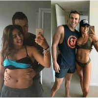 "Gym, Journey, and Life: MEEL  en On the left I had come back from Fiji and was taking a progress photo (no idea why in a bikini top and trackpants LOL) 😅 Ross came in and gave me a hug-kiss 😚 At the time I didn't feel that good about myself, but him coming in and doing that made me feel so much better. Some of you will think nothing is wrong with the left - I totally agree but at that time my mindset was VERY blurred 🙃 Note that we are both smiling 😄 On the right it was the day after comp after I ate chocolate hip hot cross buns with melted Lindt balls 😍 and I felt amazing. Note that we are both smiling 😁 Point? No matter where you are in your journey, enjoy it. I never set out to go on a fitness journey to change the way I looked, I did it to feel healthy and be strong 💪🏽 The idea of healthy-strong is different to everyone. Sometimes I forget WHY I started but in my massage today, I remembered 💯 ""Fit For Life"" - mentally and physically fit 💆🏽 • PS If people can't be there to support you at your ""worst"" and your best then you need to rethink the people you surround yourself with ❤️ Thank you Ross 😍 @anjuli_fitforlife . howtotransform trainandtransform trainhard training gym gymlife lifting doyouevenlift strongisthenewskinny transform transformation beforeandafter transformationtuesday fitness fitnessgoals fitnessjourney fitspo weightloss weightlosstransformation fatloss healthandfitness healthy exercise workout cardio progress weightlossmotivation weightlossinspiration weightlossgoals"