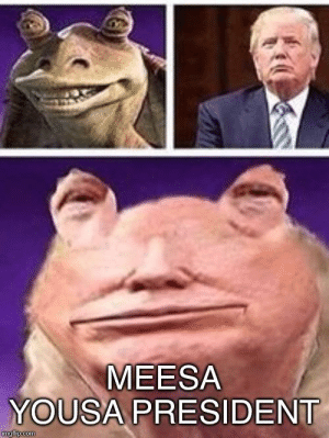 Com, President, and Build A: MEESA  YOUSA PRESIDENT  imgflip.com Weesa need to build a wall