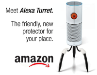 Protector: Meet Alexa lurret.  The friendly, new  protector for  your place  amazon