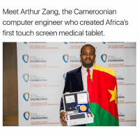 touch screen: Meet Arthur Zang, the Cameroonian  computer engineer who created Africa's  first touch screen medical tablet  EEMI  ORENGINEERINC INNOVATION  ENGINEERING  ENGINEE  ENGINEERING  ERING  ENGINEERING  THE AFRICA  ACADEMY OF  RING  ENGINEERING  THE AFRICA PRIZE  FOR ENGINEERING INNOVATION  RING  ENGINEERING  ERING INNOVA  THE INNOVATION  FOR ENGINEERING