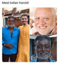 You can feel the pain in the eyes.: Meet Indian Harold! You can feel the pain in the eyes.