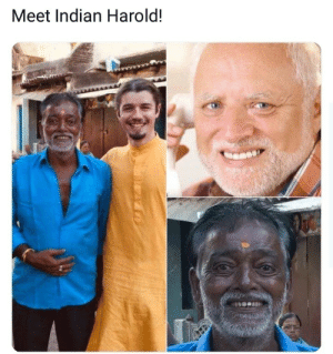 Memes, Indian, and Pain: Meet Indian Harold! You can feel the pain in the eyes. via /r/memes https://ift.tt/2QreiMq
