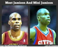 Facebook, Meme, and Nba: Meet Jamison And Mini Jamison  Brought By: Facebook com/NBAMemes Jodie Meeks joins the LakeShow!